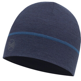 Buff Merino Wool Hat Solid Denim